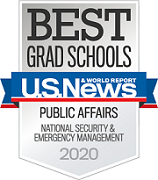 2020 U.S. News and World badge ranking for public affairs, national security and emergency management