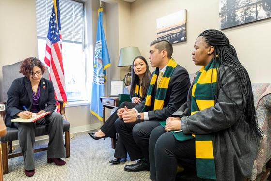 Undergraduate Schar School of Policy and Government students advocated